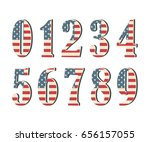 3d numbers with american flag... | Shutterstock .eps vector #656157055