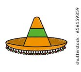 mexican hat icon | Shutterstock .eps vector #656159359
