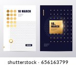 vector gold luxury abstract... | Shutterstock .eps vector #656163799