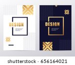 vector gold luxury abstract... | Shutterstock .eps vector #656164021