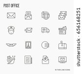 post office related thin line... | Shutterstock .eps vector #656168251