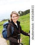 woman hiking | Shutterstock . vector #656168611