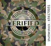 verified on camo texture | Shutterstock .eps vector #656170051