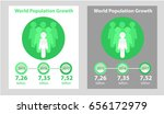 world population growth. number ... | Shutterstock .eps vector #656172979