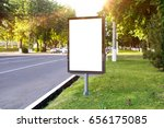 blank white mock up of vertical ... | Shutterstock . vector #656175085