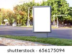 blank white mock up of vertical ... | Shutterstock . vector #656175094