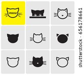 cats's heads icons | Shutterstock .eps vector #656178661