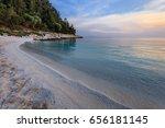 porto vathy marble beach in... | Shutterstock . vector #656181145