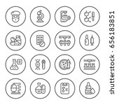 set round line icons of... | Shutterstock .eps vector #656183851