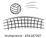 sport ball volleyball with net | Shutterstock .eps vector #656187307