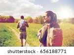travel  hiking  backpacking ... | Shutterstock . vector #656188771
