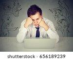 bad evil men pointing at...   Shutterstock . vector #656189239