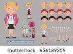 creation of cartoon character... | Shutterstock .eps vector #656189359