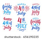 fourth of july hand written ink ...   Shutterstock .eps vector #656190235
