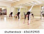 happy group child dancers | Shutterstock . vector #656192905