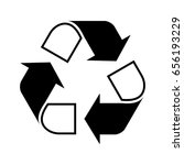 recycle symbol | Shutterstock .eps vector #656193229