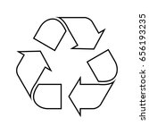 recycle symbol | Shutterstock .eps vector #656193235