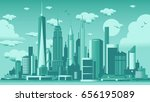 new york city skyline | Shutterstock .eps vector #656195089