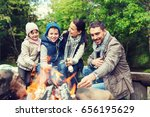 camping  travel  tourism  hike... | Shutterstock . vector #656195629