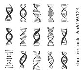 dna helix  a genetic sign... | Shutterstock .eps vector #656196124