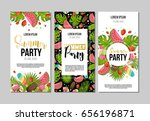 set of flyers for summer party. ... | Shutterstock .eps vector #656196871