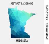 minnesota map in geometric... | Shutterstock .eps vector #656199841