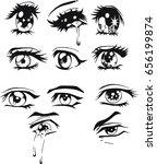 hand drawn eye vector | Shutterstock .eps vector #656199874