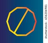 dodecagon logo vector image | Shutterstock .eps vector #656206981
