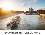 Notre Dame De Paris And Barge...