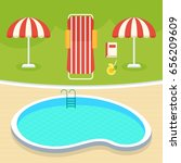 outdoor swimming pool for spot... | Shutterstock .eps vector #656209609