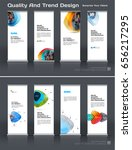 abstract business vector set of ... | Shutterstock .eps vector #656217295