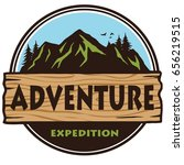 adventure mountain expedition... | Shutterstock .eps vector #656219515