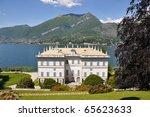 Villa Melzi in Bellagio town at the famous Italian lake Como - stock photo