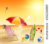 summer beach background | Shutterstock .eps vector #656236885