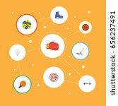 flat icons boxing  kettlebells  ... | Shutterstock .eps vector #656237491