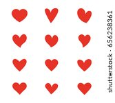 hearts vector set. | Shutterstock .eps vector #656238361