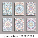 vector invitation cards set.... | Shutterstock .eps vector #656239651