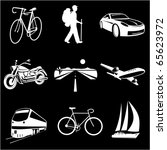 raster icons of transport | Shutterstock . vector #65623972