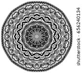 big mandala black isolated on... | Shutterstock .eps vector #656240134