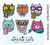 cute cat illustration series ... | Shutterstock .eps vector #656240365