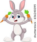 cute little bunny holding... | Shutterstock .eps vector #656240395