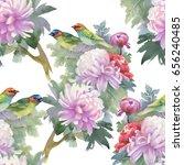 seamless pattern of pink... | Shutterstock . vector #656240485