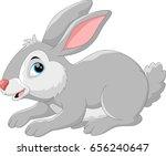 Stock vector cute rabbit cartoon 656240647