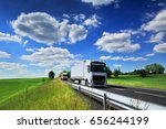 trucks transportation | Shutterstock . vector #656244199