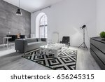 gray and white loft apartment... | Shutterstock . vector #656245315
