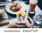cream made with fruit | Shutterstock . vector #656247139