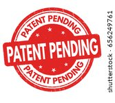 patent pending sign or stamp on ... | Shutterstock .eps vector #656249761