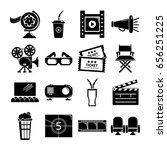 cinema icons set symbols.... | Shutterstock .eps vector #656251225