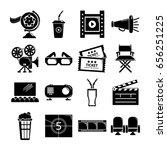 cinema icons set symbols.... | Shutterstock .eps vector #656251225