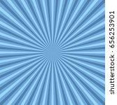 sun rays. blue sun rays... | Shutterstock .eps vector #656253901